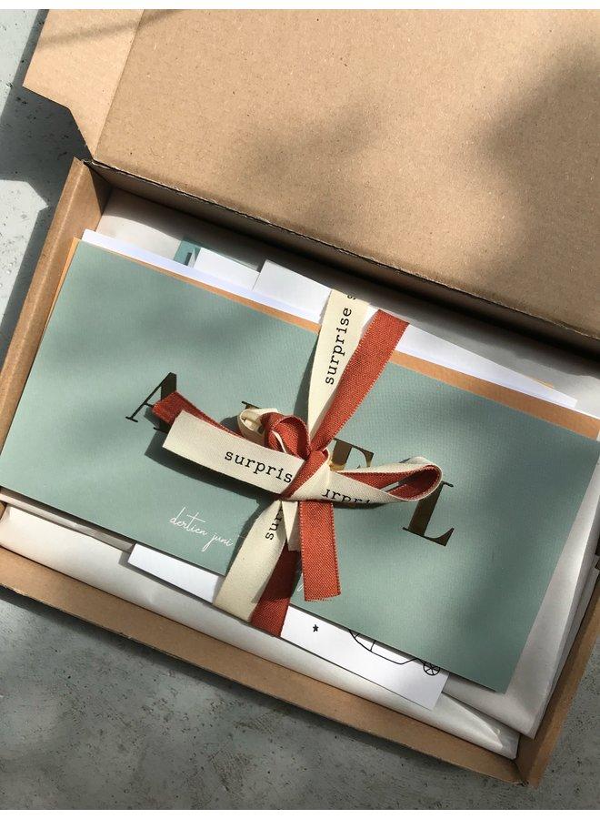 Proefpakketten kaartjes