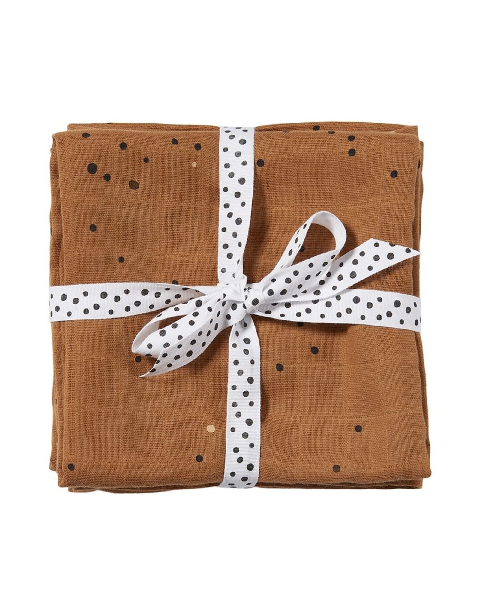 Done by Deer Swaddle 2-pack Dreamy dots Mustard
