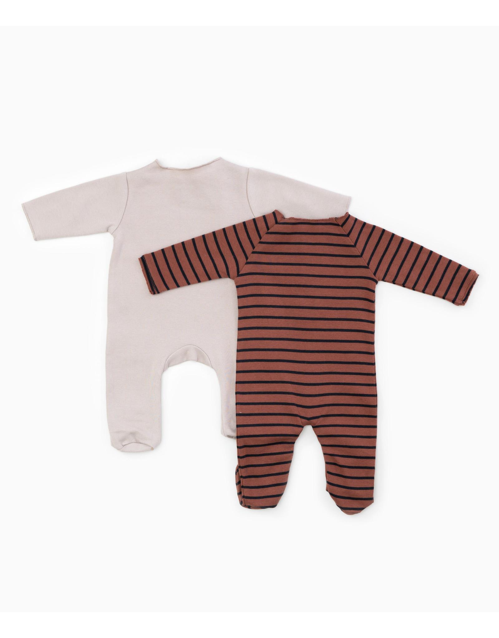 Play Up Striped Rib Babygrow romper