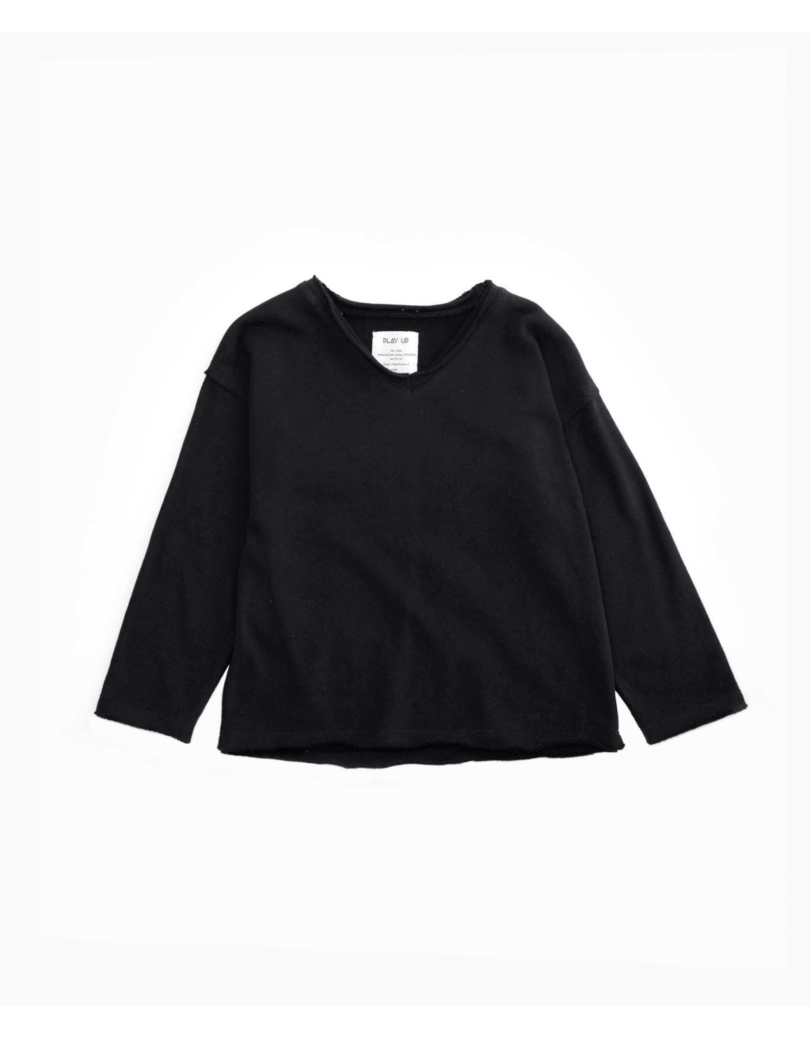 Play Up V-neck fleece sweater