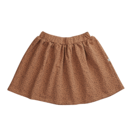 Blossom Kids Skirt leave drops caramel fudge