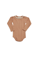 Blossom Kids Ribbed body with lace deep toffee