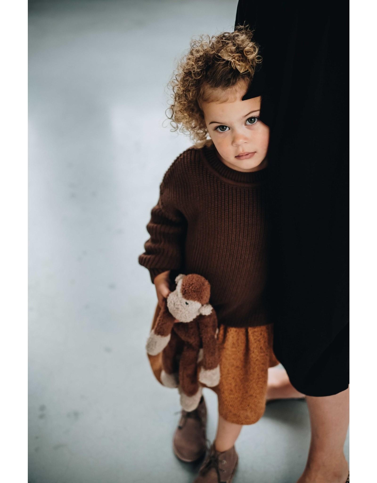 Blossom Kids knitted jumper dark chocolate