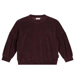 Daily Brat Marant velour sweater deep mahogany