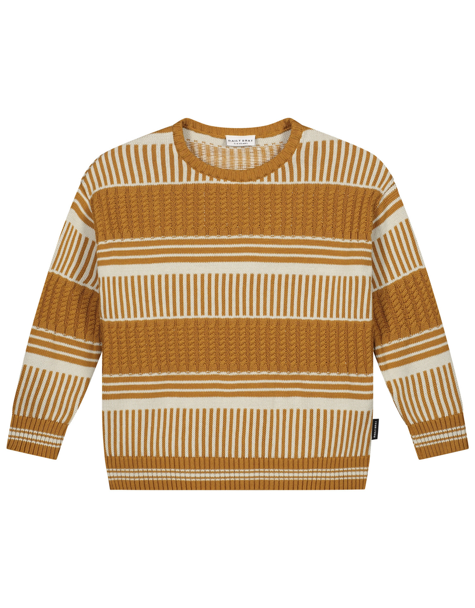 Daily Brat River knitted sweater sandstone
