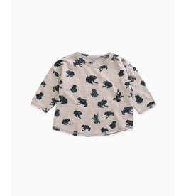 Play Up Printed T-shirt in organic cotton - frog