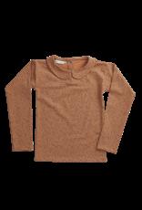 Blossom Kids Peterpan, long sleeve shirt, Leave Drops, Caramel Fudge
