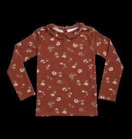 Blossom Kids Peterpan, long sleeve shirt, Festive Floral, Dusty Terra