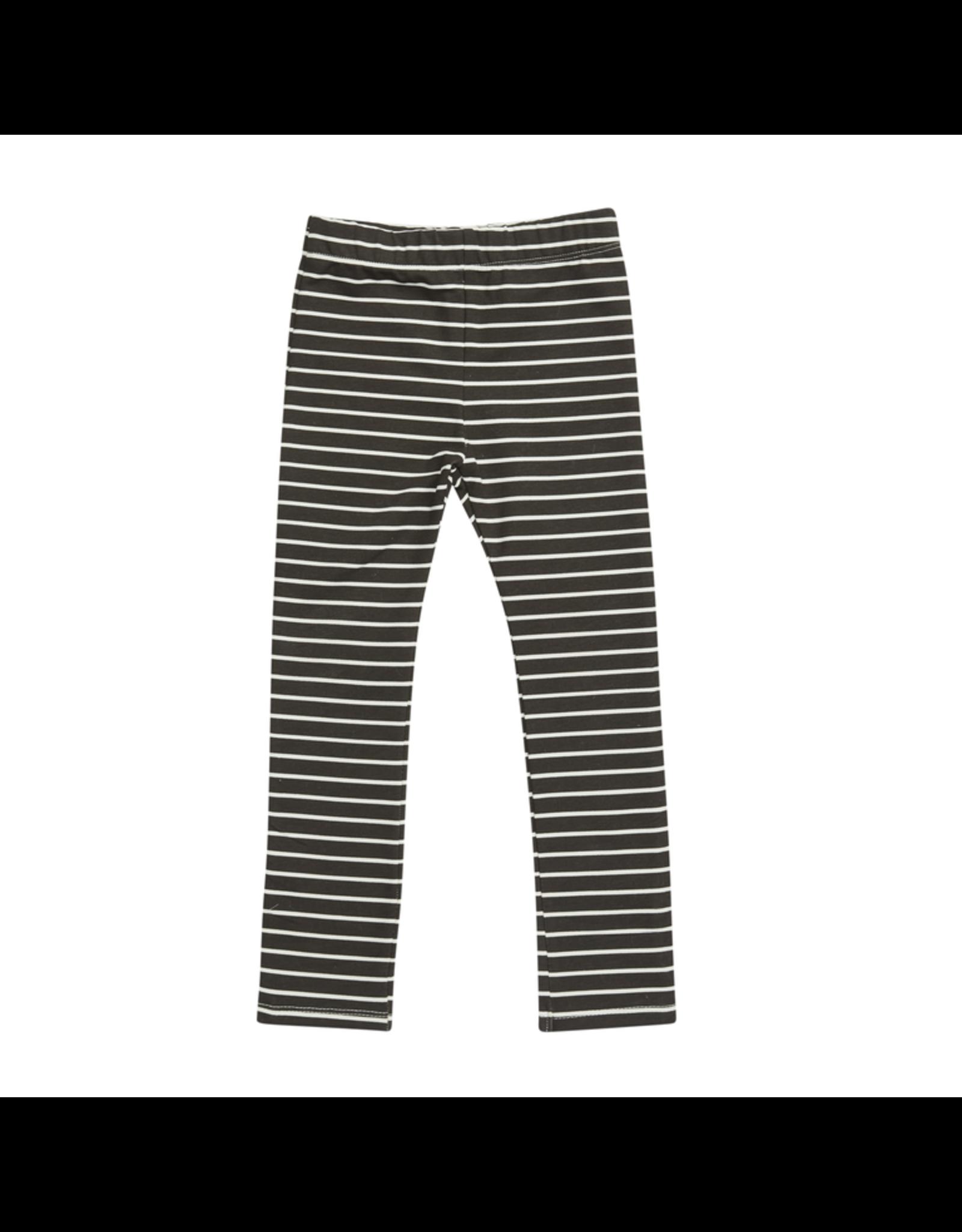 Blossom Kids Legging, Petit Stripes, Espresso Black