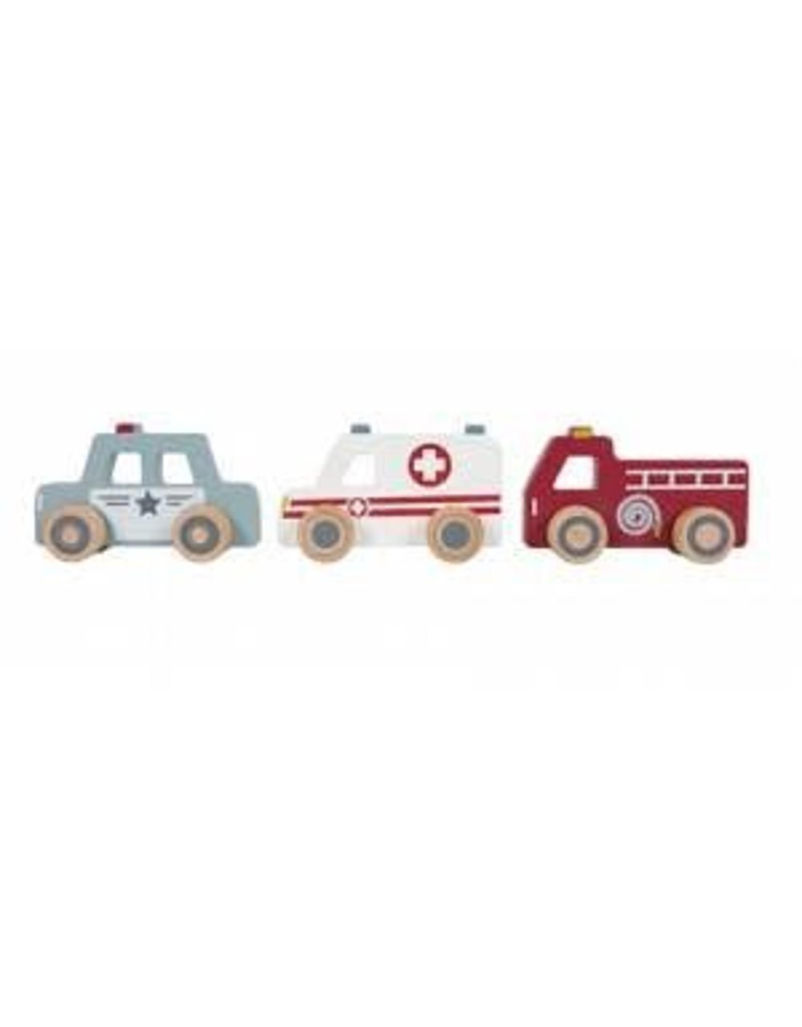 Houten hulpverleningsauto's