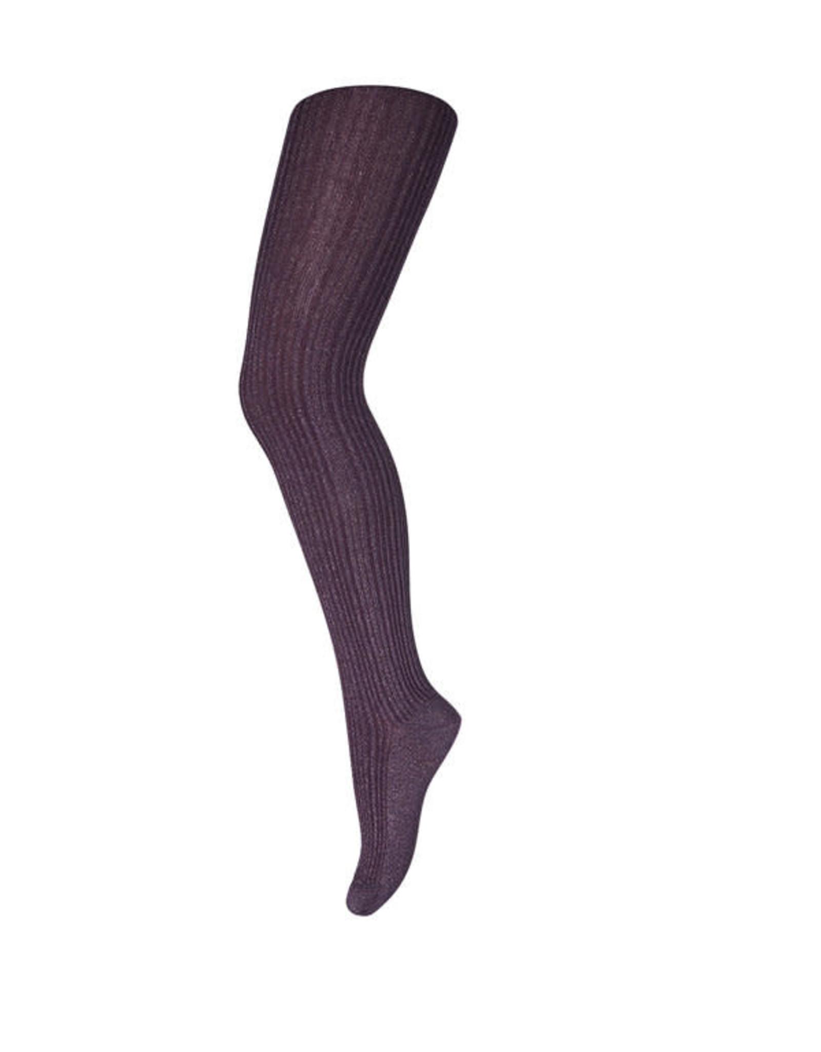 MP Denmark 19025 tights celosia with lurex // 180 dark grape