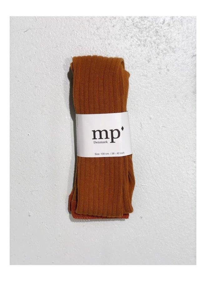 MP denmark Tights cotton rib rust 3127
