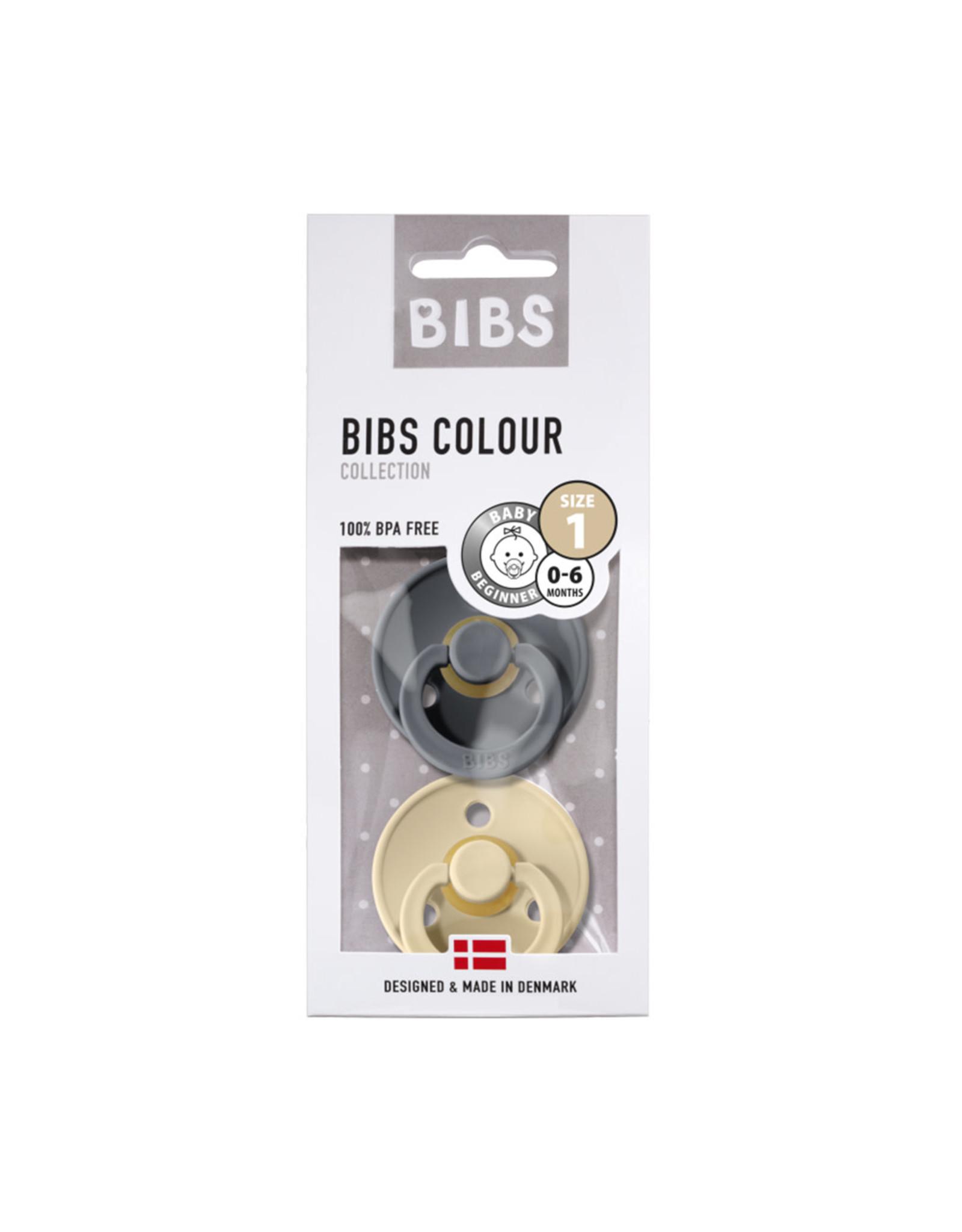 Bibs Bibs duo iron/beige size 1