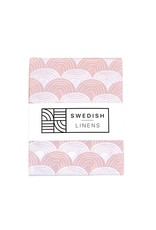 Swedish Linens Swedish Linens hoeslaken Rainbows nudy pink, 40 x 80 cm