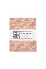 Swedish Linens Swedish Linens hoeslaken Seashells Terracotta pink, 60 x 120 cm