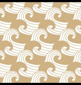 Swedish Linens Swedish Linens hoeslaken Waves warm sand, 60 x 120 cm