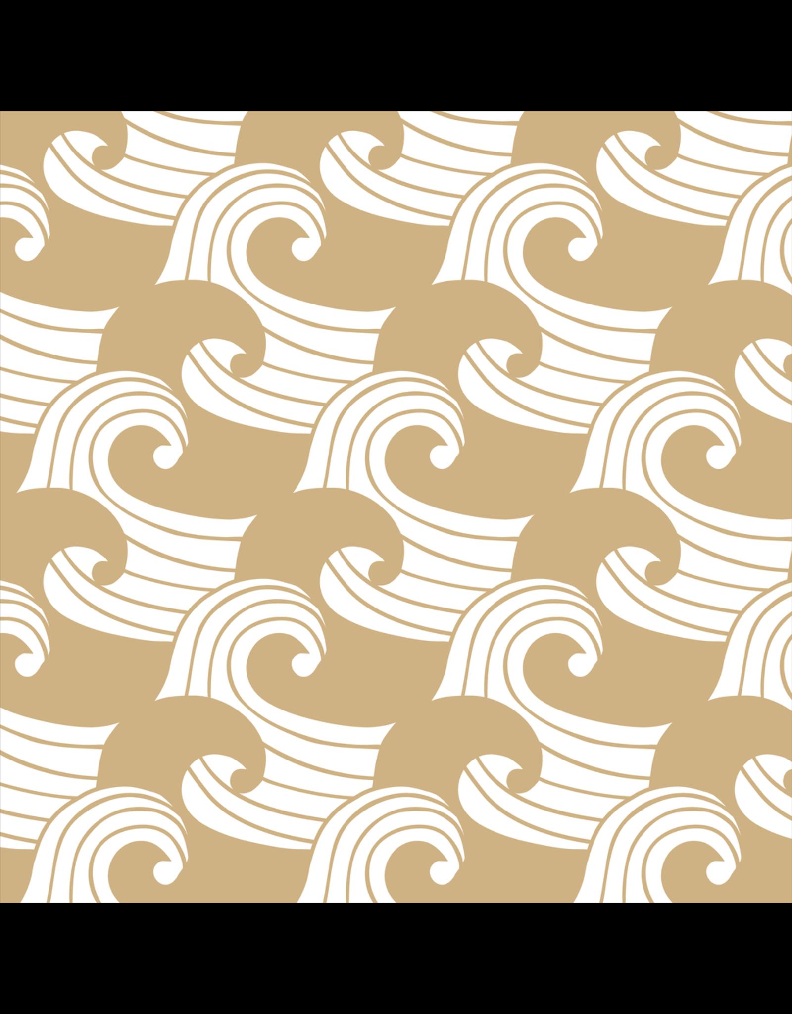 Swedish Linens Swedish Linens hoeslaken Waves warm sand, 90 x 200 cm