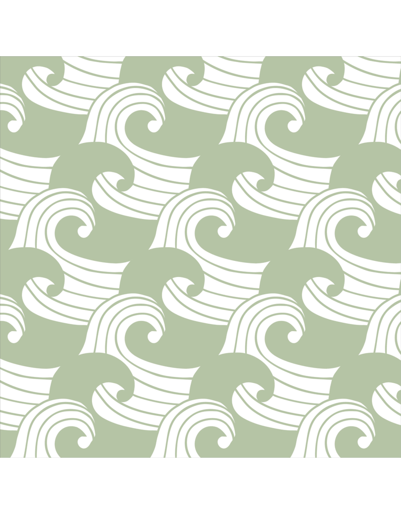 Swedish Linens Swedish Linens hoeslaken Waves Sage, 40 x 80 cm