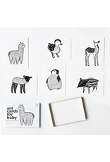 Wee Gallery Baby art cards -Baby animals