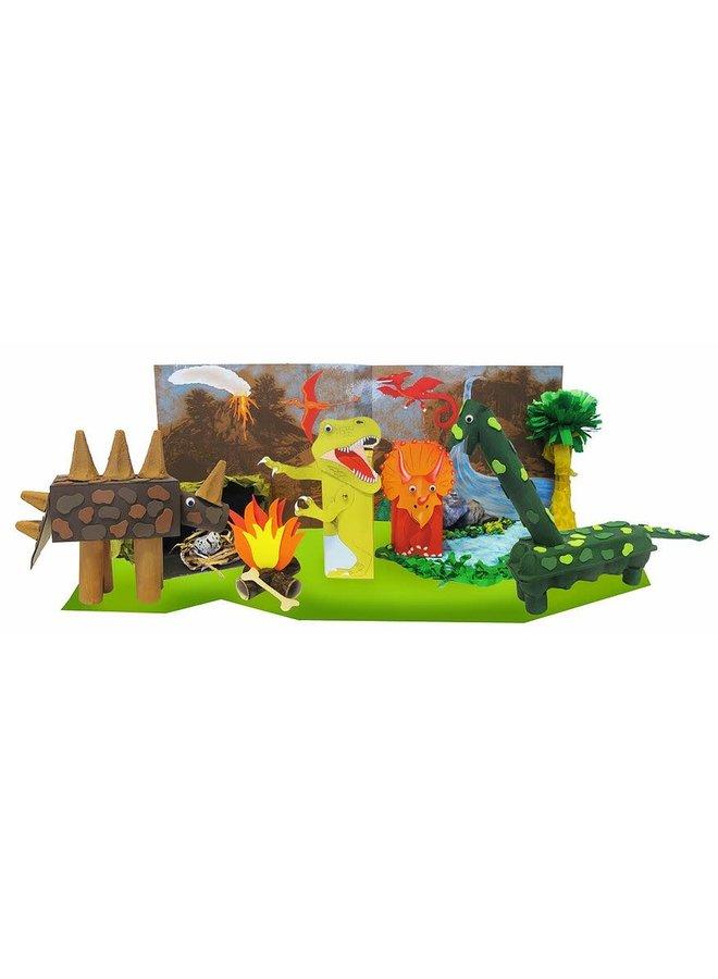 Knutsel een Dino wereld