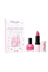 Rosajou Duo nail polish & lip balm 'Rubis'