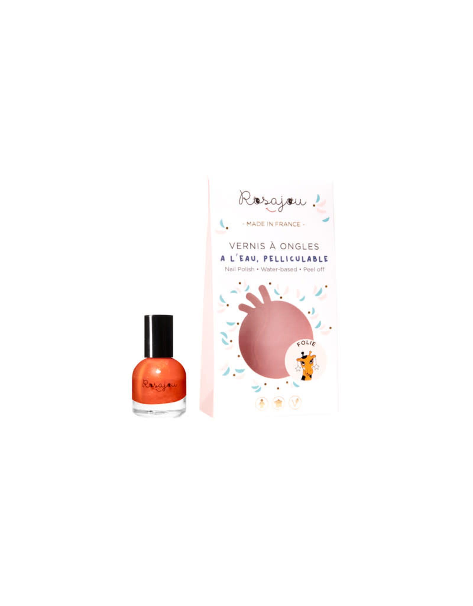 Rosajou nail polish orange 'Folie'