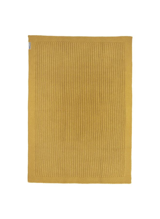 Deken herringbone Honey-Gold 100 x 150 cm