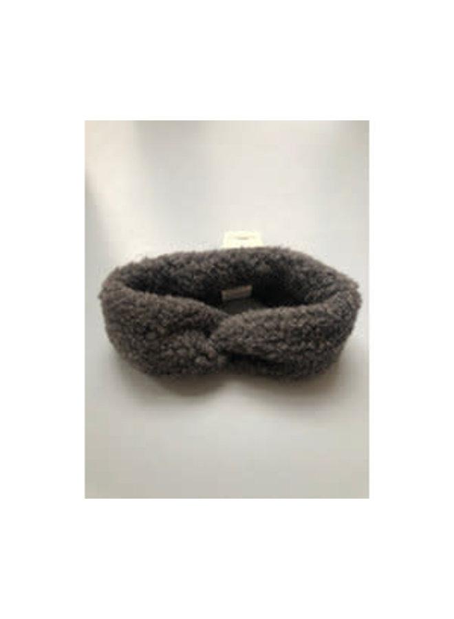 hoofdband 100% wol // graphite