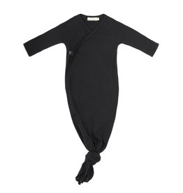 Phil & Phae Knotted baby gown Charcoal
