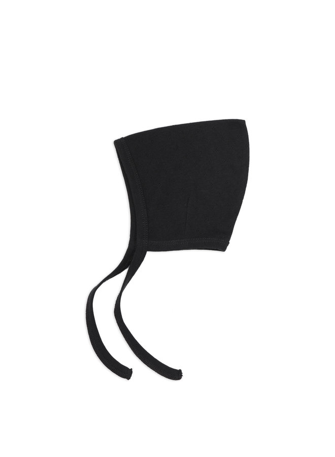 Pointed bonnet Charcoal
