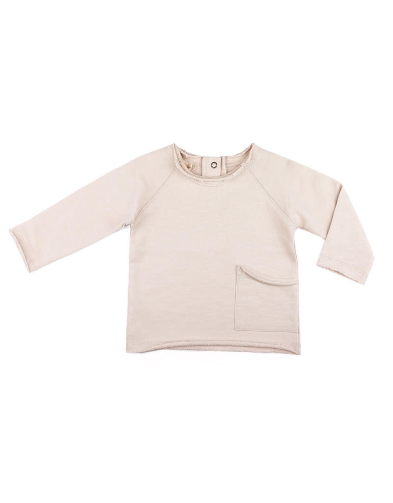 Phil & Phae Raw-edged baby sweater Oatmeal