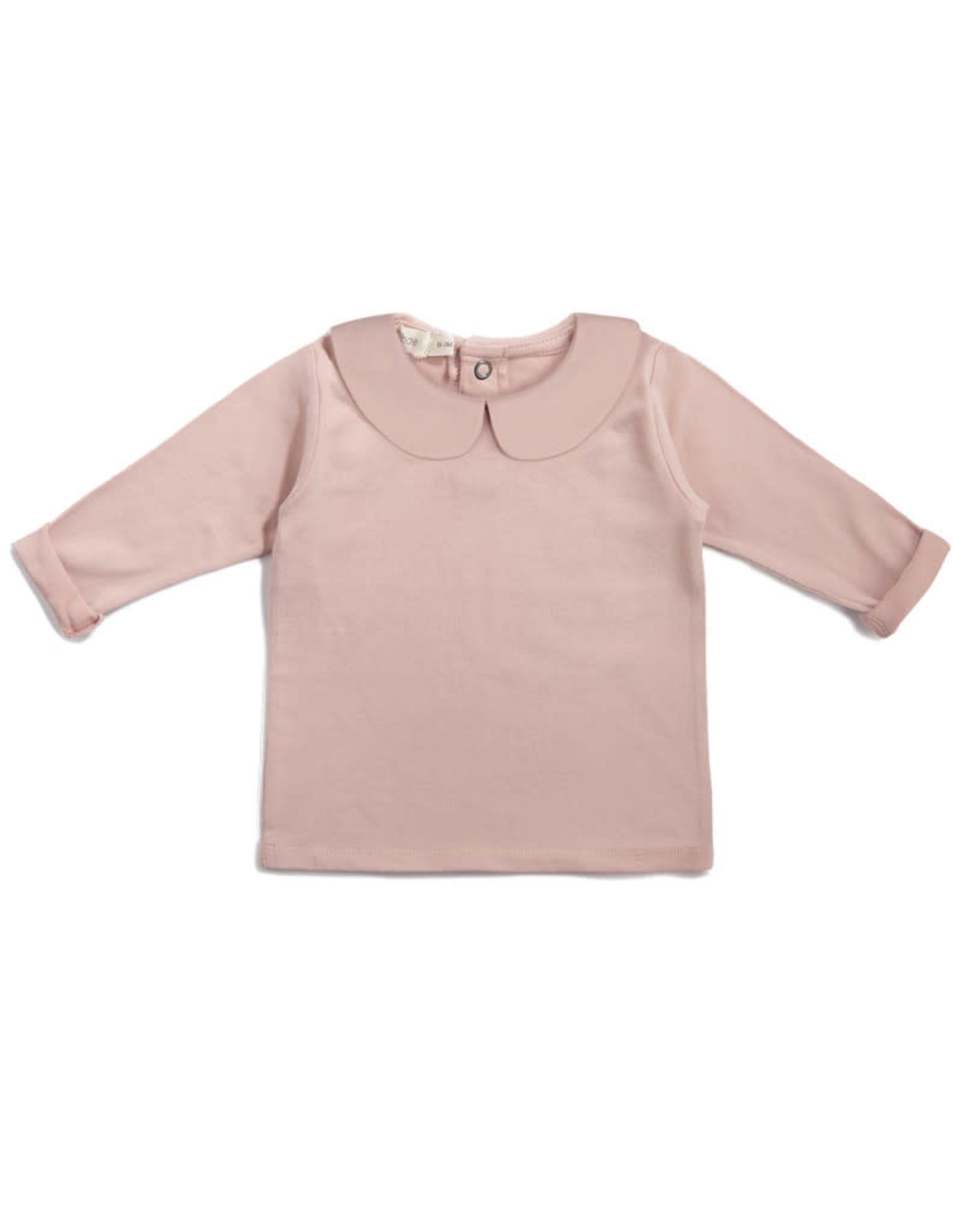Phil & Phae Baby collar tee Vintage blush