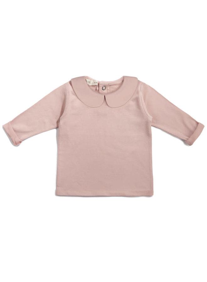 Baby collar tee Vintage blush