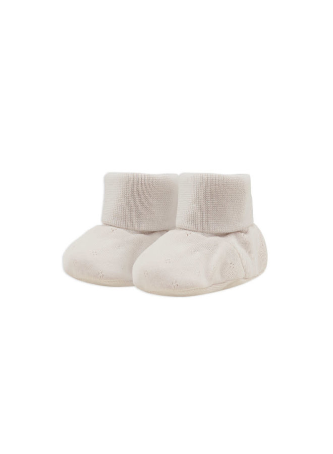 Baby booties pointelle  Oatmeal