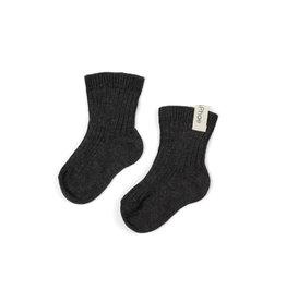 Phil & Phae ribbed baby socks Charcoal