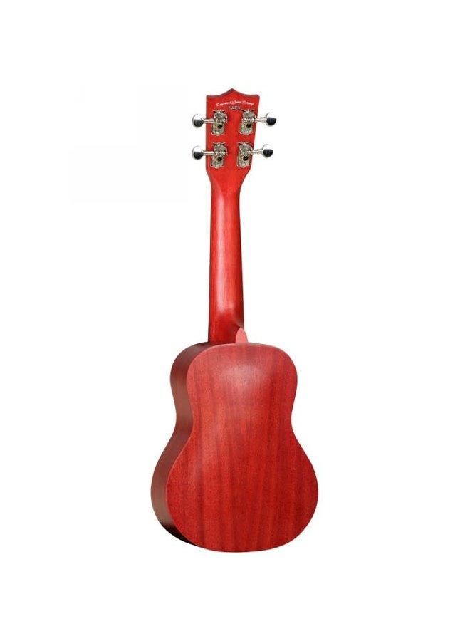Tanglewood ukelele red stain satain