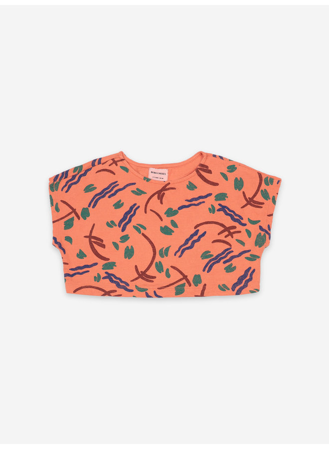 Strokes All Over Cropped Sweatshirt