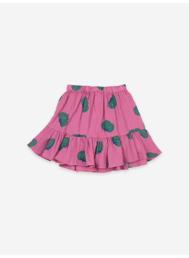 Tomatoes All Over Ruffle Mini Skirt
