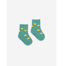Bobo Choses Chocolate Flowers Green Baby Socks