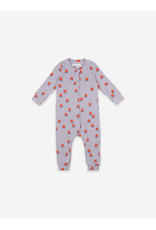 Bobo Choses Chocolate Flowers All Over Rib Overall