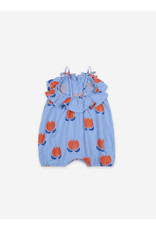 Bobo Choses Chocolate Flowers All Over Woven Romper