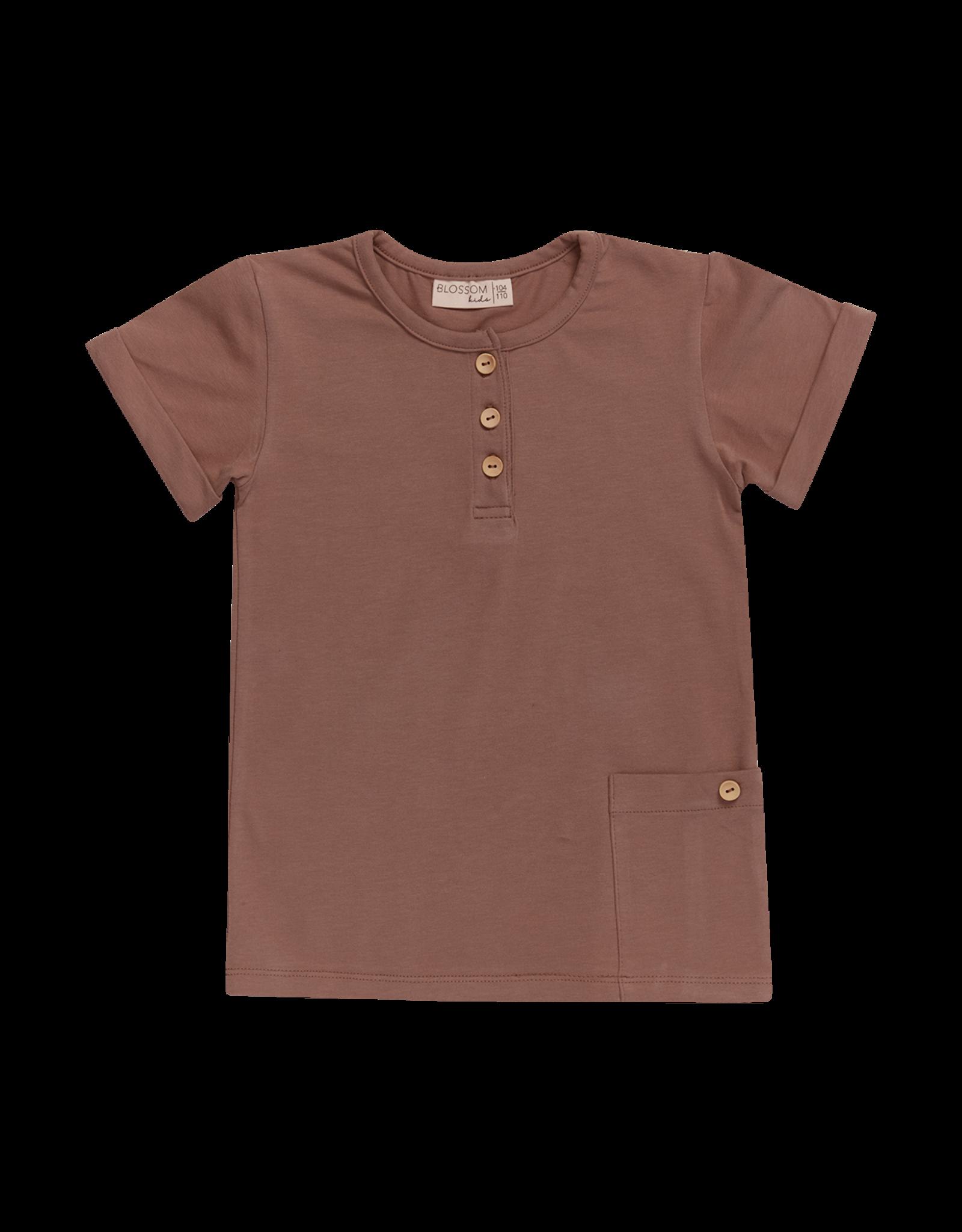 Blossom Kids Shirt - Short sleeve - Creamy Cacao