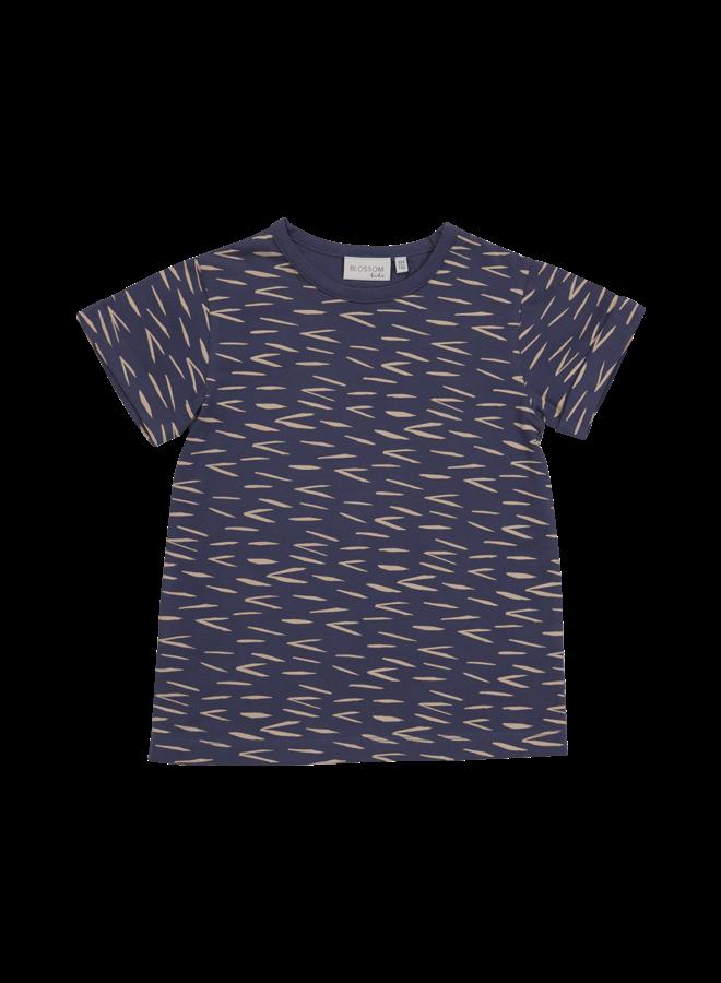T-shirt Zig Zag - Royal Bleu