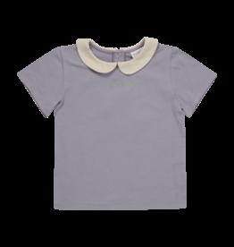 Blossom Kids Peterpan shirt - Shortsleeve - Lavender Grey