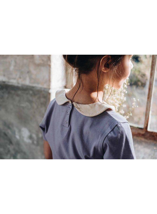 Peterpan shirt - Shortsleeve - Lavender Grey