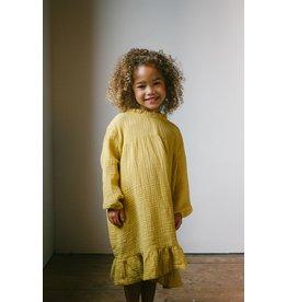 Daily Brat Lois Ruffle Dress mellow yellow