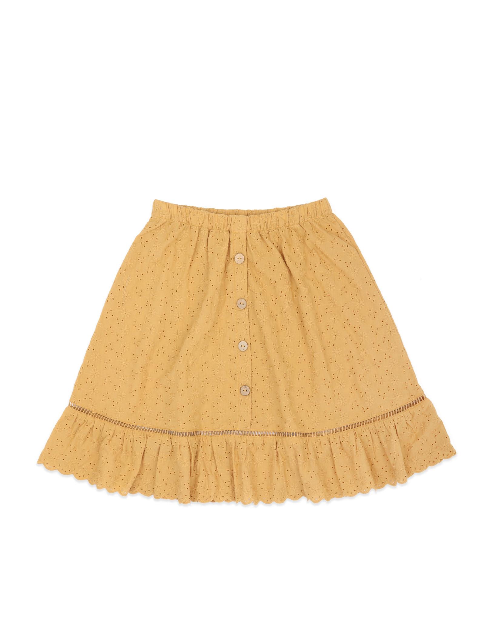 Ammehoela Skirt Romy Mustard Yellow