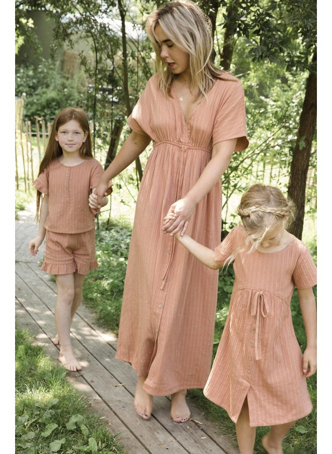Mom dress Coral Dust