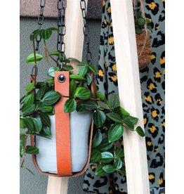 Leren plantenhanger | i.c.m. ketting