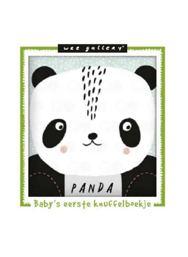 Wee Gallery, stoffen knuffelboekje Panda